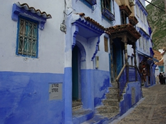 Chefchaouen is known for the blue hues painted on all its buildings