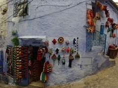 Funky hat store; Chefchaouen