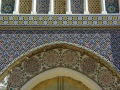 Ornate detail on the Royal Palace in Fes el-Jdid