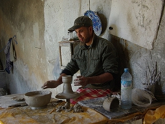 Ceramic worker in Fes