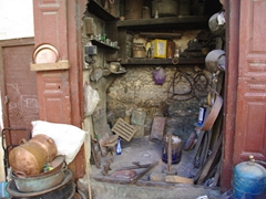 Traditional metal workshop; Fes medina