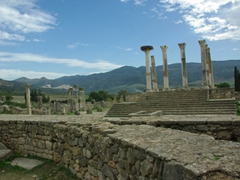 Another view of Volubilis ruins