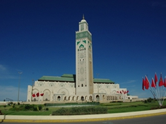 View of the Hasan II mosque; Casablanca