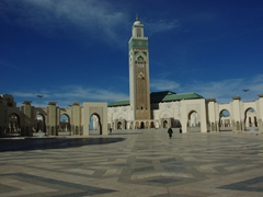 The tower of Hasan II mosque dominates the Casablanca skyline