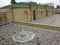 Courtyard view of the mausoleum of Mohammed V; Rabat