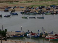 Colorful fishing boats; Rabat