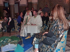 "Robby in a ""Moroccan wedding ceremony""; Fes"