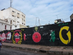 Colorful wall mural; Casablanca