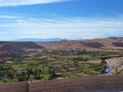 View of surrounding countryside as seen from Ait Benhaddou