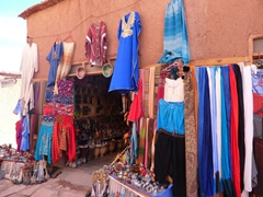 Souvenir shop in touristy Ait Benhaddou
