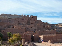 Beautifully preserved mud built kasbah in Ait Benhaddou