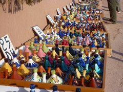 Miniature tajine pots for sale; Ait Benhaddou