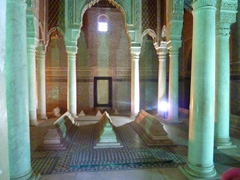 Interior view of the Saadian Tombs; Marrakesh