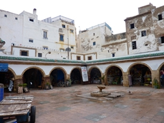 Interior courtyard of Essaouira's fish market