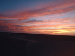 Gorgeous sunsets abound in beautiful western Sahara