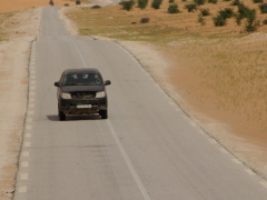 The road linking Nouadhibou to Nouakchott is well maintained