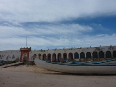 The city of Nouadhibou is a fishing village (as evidenced by its numerous fishing boats)