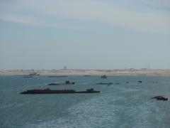 View of Nouadhibou's shipwreck graveyard