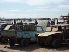 Parking lot of Nouadhibou's main port
