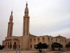 View of Nouakchott's grand mosque