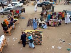 Leather shoes for sale; Nouakchott market