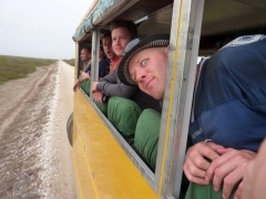Our truck members avidly watch the beautiful scenery in Diawling National Park