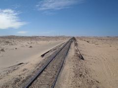 View of Mauritania's railroad track