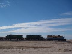 A glimpse of the famous 2.4 KM long iron ore train