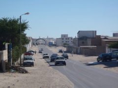 View of Nouadhibou (pass through the arch way to reach the shipwreck graveyard)