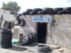 Michelin tire repair shop; Nouadhibou
