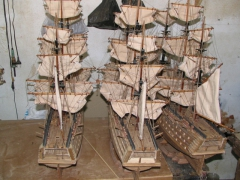 Typical model ships, one of Mauritius' more famous souvenirs