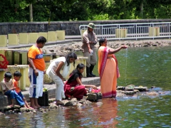 Devotees at Grand Bassin
