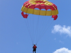 Parasailing is a popular activity in Mauritius!