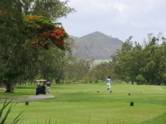 Golf course on Ile Aux Cerfs (Deer Island)