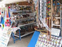 Souvenirs for sale on Ile Aux Cerfs (Deer Island)
