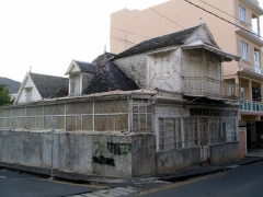 Remnants of a bygone era; rustic colonial-era residence; Port Louis