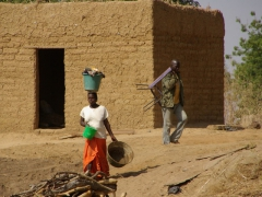 A typical Mali village scene