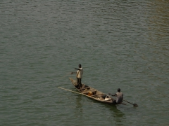 Small boat on the River Niger; Bamako
