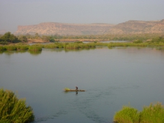 River crossing; Mali countryside