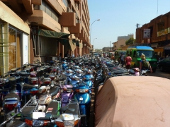 Motorcycle parking lot; Bamako