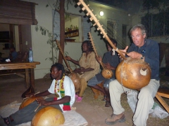 Frans jams with the band; Bamako's The Sleeping Camel