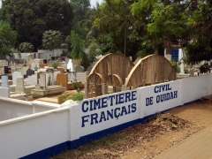French cemetery in the city of Ouidah