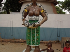 Statue outside the python temple; Ouidah