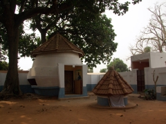 Interior courtyard of Ouidah's python temple, where the sleepy snakes were locked away for their mid afternoon siesta
