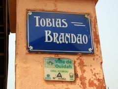 Ouidah street sign