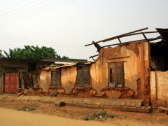 Crumbling ruins of an Ouidah dwelling