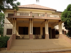 "The Afro-Brazilian building that served at the Brazilian governor's residence in Ouidah; currently houses the ""Women in Africa"" exhibit"
