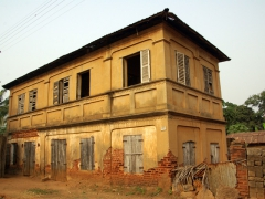 Crumbling colonial architecture is easy to stumble upon in Ouidah