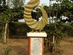 "Monuments line the entire ""Route of Slaves"", a 4 KM path leading from the center of Ouidah down to the coast"