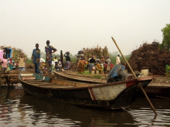 Tourists who wish to visit the stilt village of Ganvie have two options of transport, a motorized or a traditional pirogue